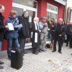 Stolperstein-verlegung in Wiesloch
