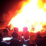Verbrennung der Weihnachtsbäume in Wiesloch