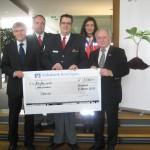 Spendenübergabe der Volksbank-Kraichgau-Stiftung