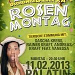 HEUTE: Rosenmontagsparty mit Sascha Krebs & Rainer Kraft