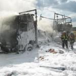 Feuerwehr Wiesloch auf der A6 im Einsatz