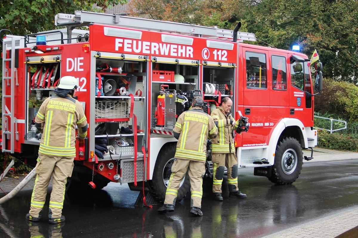 Jahres-Hauptübung der Freiwilligen Feuerwehr Horrenberg/Balzfeld