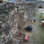 Sanierung eines Sandsteinmauer-Abschnittes am Jüdischen Friedhof in Wiesloch