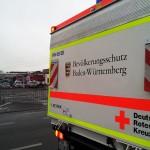 DRK Einsatz beim Kamin-Brand in Wiesloch