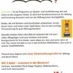 Stadtbibliothek lädt ein: Drei Meilensteine für das Lesen