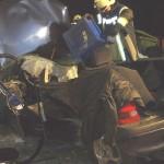 Schwerer Verkehrsunfall mit zwei Schwerstverletzte