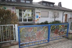 Walldorf. Der alte Ev.Kindergarten in der Schulstrasse.