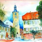Heute Vernissage des Walldorfer Künstlers Herbert Hügens