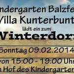 Heute steht das Winterdorf in Balzfeld