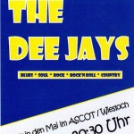 "Am 30. 04. mit ""The Dee Jays"" im Ascot in den Mai rocken"