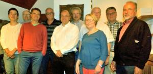 v.li.:Arved Oestringer, Dr. Matthias Spanier, Dr. Jörg Richter, Bernd Lang, Jürgen Abt, Achim Artmann, Christiane Harms, Siegfried von Naguschewski, Rüdiger Haas, Robert Blum.
