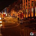 Lagerhallenbrand – Wieslocher Feuerwehr hilft – hier Bilder