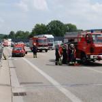 PKW Unfall auf BAB 6 Ri. Mannheim bei Abfahrt Rauenberg, 5 Verletzte