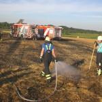 Strohballen-Flächen – brand aus Sicht der Feuerwehr