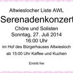 Serenaden Konzert der AWL in Altwiesloch am 27. Juli