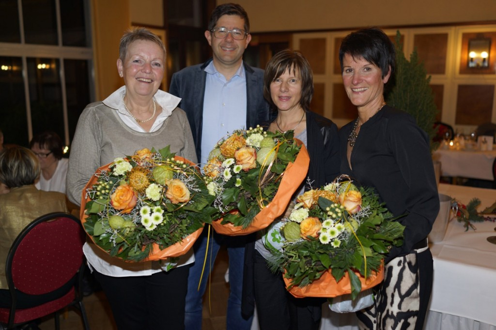 10 Jahre dabei: v.l.: Karin Pittich, CS, Iris Becker, Uta Fleck