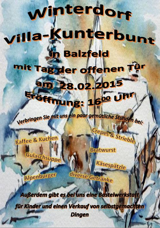 Winterdorf 2015 Kiga Balzfeld