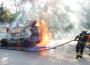 Wohnmobilbrand auf BAB 5