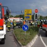 """Unfall mit zwei Verletzten an Sandhausens """"Dünenkreuzung"""""""