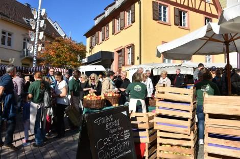 Heute ist in Wiesloch Herbstmarkt – Shoppen bei herrlichem Wetter