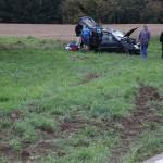 Schwerer Verkehrsunfall auf der L612 zwischen Horrenberg und Hoffenheim