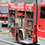 Feuerwehren Dielheim & Horrenberg – Balzfeld trainieren im Brandcontainer