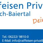 Großzügige Spendenaktion der Raiffeisen-Privatbank Wiesloch-Baiertal