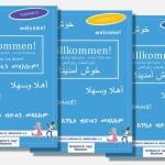 Flüchtlinge aus Wiesloch übersetzen Deutschlernheft
