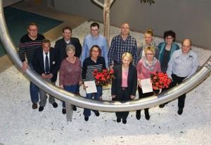 Walldorf. Blutspender Ehrungen 2016 im  Rathaus  Walldorf mit BMin Christiane Staab, Rainer Frohmueller. 03.02.2016 - Helmut Pfeifer.