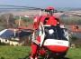 Rettungshubschrauber in Horrenberg im Einsatz
