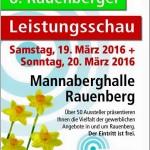 Rauenberger Leistungsschau 2016 in der Mannaberghalle