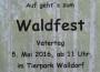 Waldfest im Tierpark Walldorf am Vatertag
