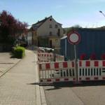 Dielheim – Großbaustelle in der Wieslocher Strasse – Vollsperrung !