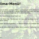 """Walldorf: Klimamenü im """"Sickinger Hof"""""""