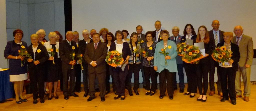 Die Geehrten des Abends Ehrenplaketten der Stadt Wiesloch