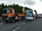 Unfall A6 vor dem AK Walldorf – Reisebus … mit update !