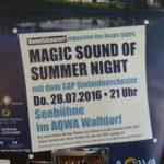 Heute: Open Air mit Feuerwerk im AQWA Walldorf