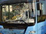 Unfall Walldorf : Radfahrer mit Linienbus