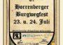 Burgwegfest in Horrenberg … das gibt es nicht alle Tage …
