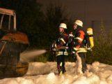 Radlader abgebrannt – Keine Bombe in Wiesloch