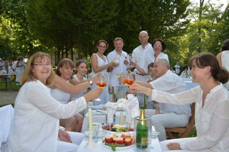Eröffnung – Dîner en blanc in Wiesloch 2016