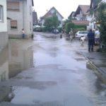 Gauangelbach in Schatthausen und Baiertal nach Starkregen