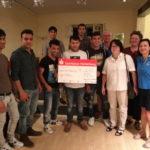 Café Mokka: Spendenscheck