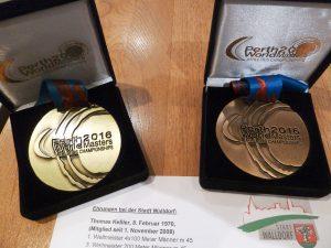 Gold- und Bronzemedailee von Weltmeister Thomas Keßler