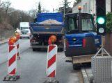 Bauarbeiten in der Baiertaler Strasse