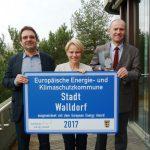Walldorf erneut mit dem European Energy Award ausgezeichnet