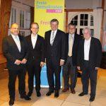 FDP Bundestagskandidat und Landtagsfraktions-vorsitzender in Rauenberg zum Weckruf