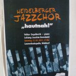 "Morgen, Sonntag: Heidelberger Jazzchor ""hautnah!"" in der Laurentiuskapelle Walldorf"