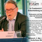 Das Kulturforum lädt ein: Am 03. Mai Diskussion mit Daniel Vernet und Gert Weisskirchen