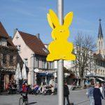 Vandalen demolierten Osterhasen der Werbegemeinschaft Walldorf